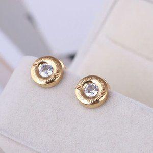 New Michael Kors Gold Crystal Pave Stud Earrings